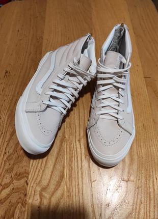 Кожаные женские кроссовки vans sk8-hi, оригинал  38 р. 24,5 см
