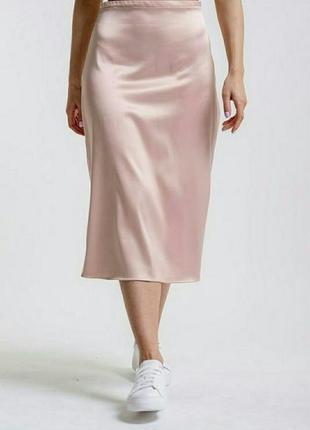 Шелковая атласная юбка