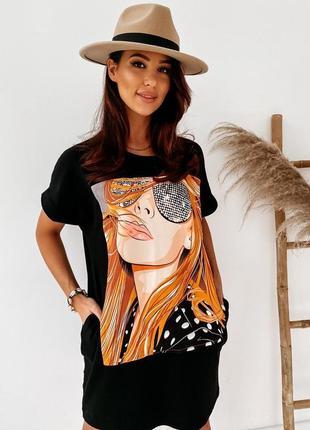 Платье-футболка 2 цвета, летнее платье, длинная футболка, платье оверсайз (арт 100297)5 фото