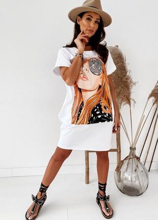 Платье-футболка 2 цвета, летнее платье, длинная футболка, платье оверсайз (арт 100297)