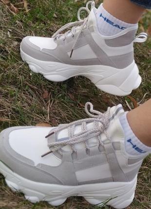 Женские белые кроссовки, весенние кроссовки