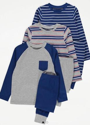 Піжама для хлопчика синя в смужку george (англія) р. 152/158, 158/164см