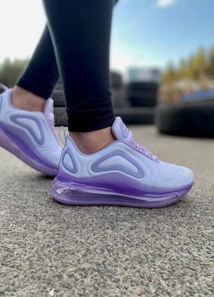 Хит кроссовки демисезонные женские nike air max 720 purple