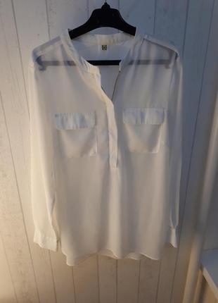 Шифоновая полупрозрачная блуза.
