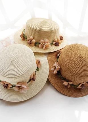 Новая модная шляпка с маленькими полями с цветами модель 2021