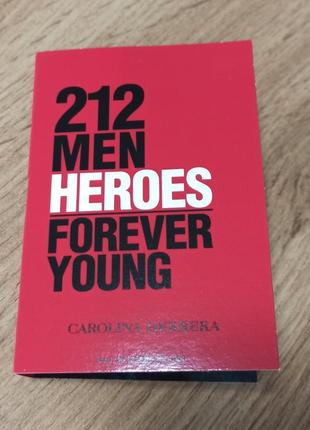 Carolina herrera 212 men heroes forever young туалетная вода