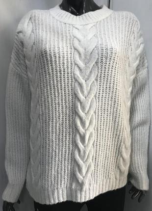 Белый свитер oversize lc waikiki , турция 🇹🇷