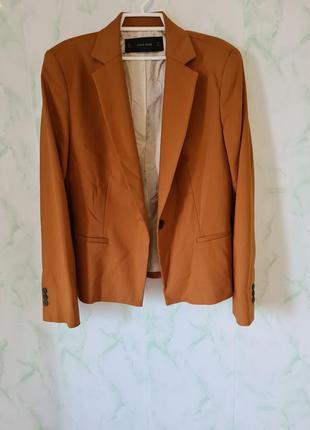 Шикарный удлинённый пиджак, жакет прямого кроя от zara
