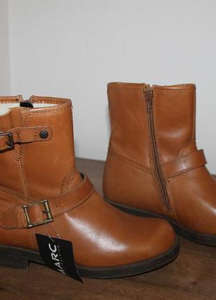 Зимние кожаные ботинки с овчиной marc gore-tex, 36 размер