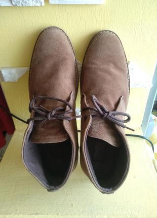 🔥натур.замша в идеале дезерты ботинки редкий большой размер 31,5 см