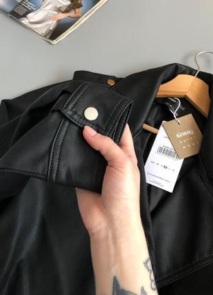 Новая обалденная куртка-косуха oversize с поясом7 фото