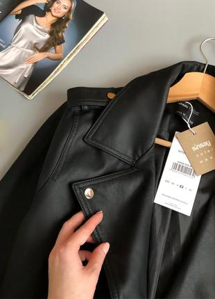 Новая обалденная куртка-косуха oversize с поясом8 фото