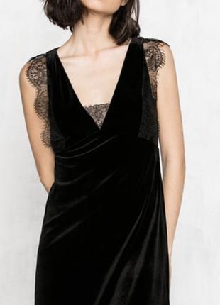 Велюровое платье  cortefiel/pedro del hierro
