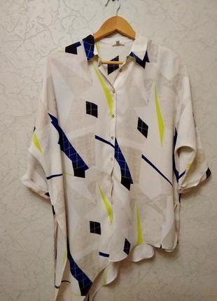 Эффектная блуза ассиметрия оверсайз