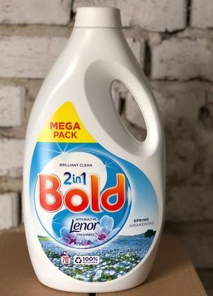 Концентрований гель для прання bold 2in1 з lenor, 70 прань 2450 мл