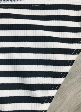 Плавки в полоску с кружевом asos xs7 фото