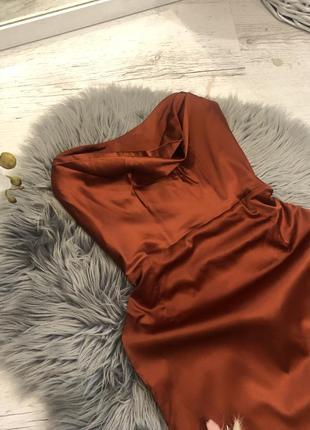 Корсетное платье атласное миди oh polly корсетна сукня4 фото