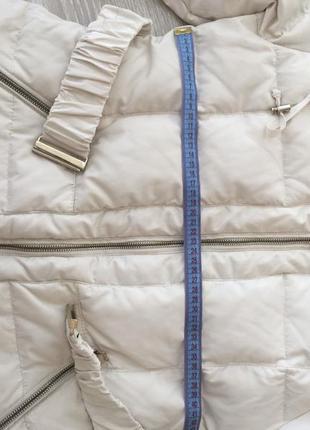 Курточка молочного цвета, теплая белая5 фото