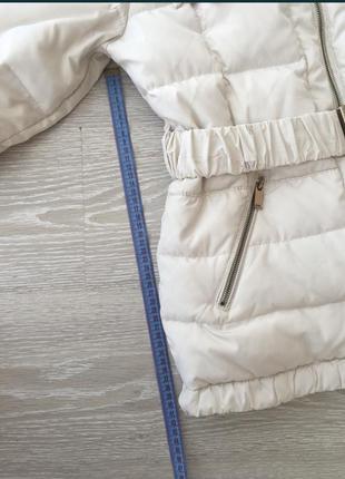 Курточка молочного цвета, теплая белая4 фото