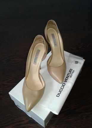 Нюдовы туфли-лодочки duccio venturi, 38.5