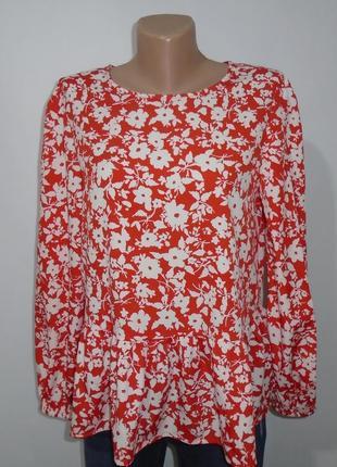 Блуза в квіти з баскою\блуза в цветочек с баской