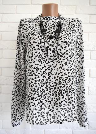 Стильная блуза сзади на змейке atmosphere uk12 в идеальном состоянии