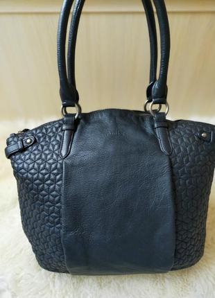 Вместительная кожаная сумка antler