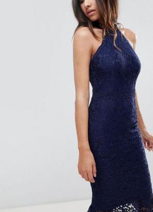 Ажурное платье миди. платье кружево. вечернее платье