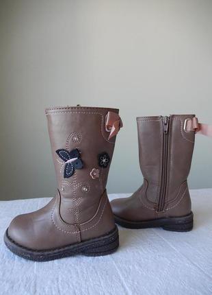 Демисезонные фирменные сапоги shoe life kids е 20размер