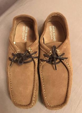 River island  мужские замшевые туфли р . 43 стелька стелька 28 см .