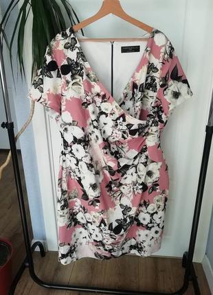 Plussize midi dress платье миди флорал принт