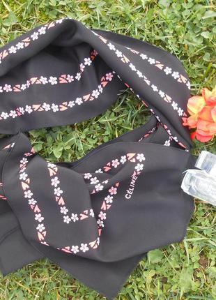 Celine paris! шелковый шарфик/платок! оригинал!