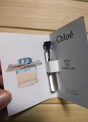 Духи аромат пробник chloe еаu de parfum от chloe ☕ объём 5мл