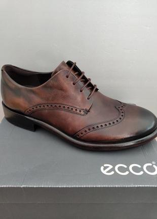 Туфли броги кожаные ессо vitrus artisan, р. 46