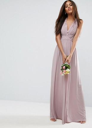Нежное вечернее платье в пол