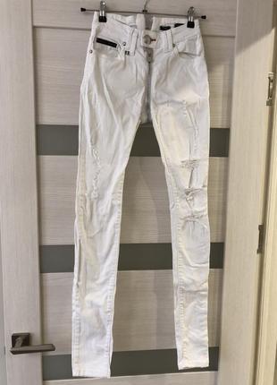 Крутые джинсы philipp plein с молнией на попе