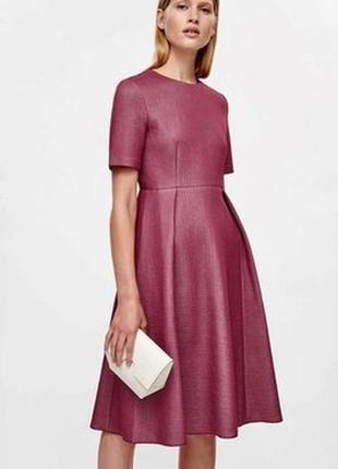 Элегантное платье р.м цвета марсала cos