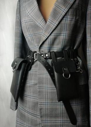 Сумка для телефона. чехлы на ремне. сумка поясная. карманы на ремне (цвета)