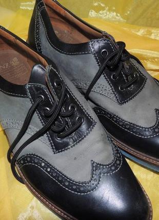 Кожаные туфли manz lose einlagen 44-44,5