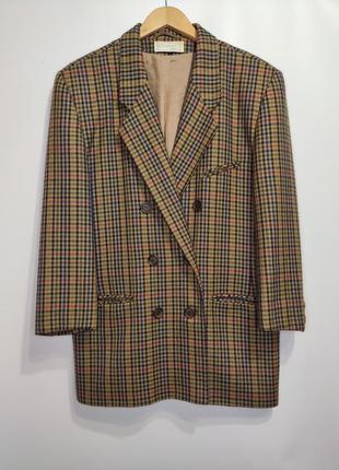 Clement шерстяной двубортный пиджак, короткое пальто гусиные лапки