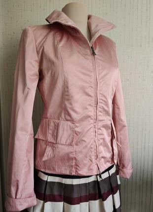 Куртка пиджак ветровка большие карманы пудровый цвет