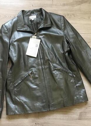 Кожаная куртка пиджак collection в стиле leonard