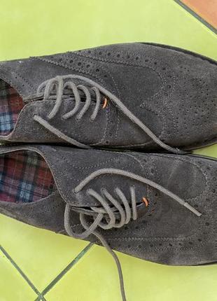 Туфли мужские серо-коричневые  hugo boss