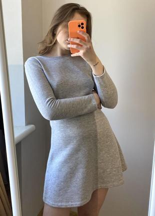 Серое платье zara