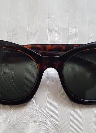 Zara  оригинальные очки  тигровый принт на маленькое лицо