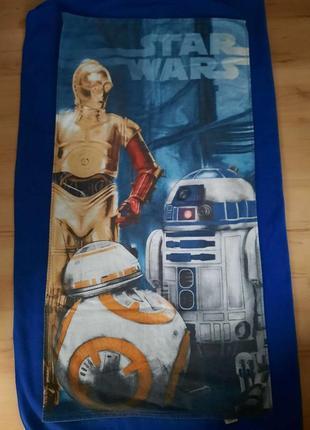 Пляжное полотенце star wars. хлопок.