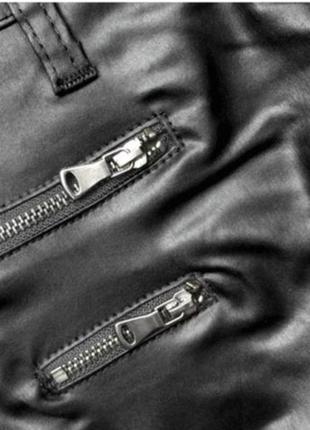 Кожаные легинсы, размер l4 фото