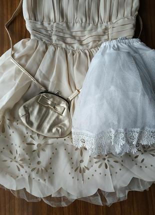 ❤️🔥платье подружки невесты с пышной юбкой и сеткой снизу