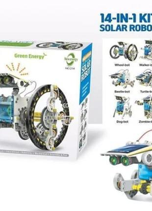 Конструктор solar robot робот 14 в 1 на солнечных батареях