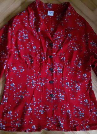 Блуза в цветочный принт от норвежского бренда norske! p.-40